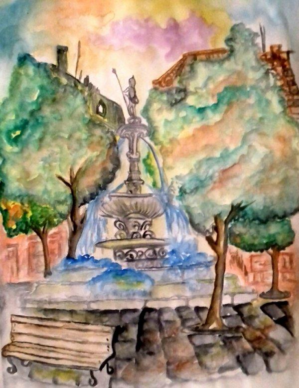 Fontaine juste pour un voeux