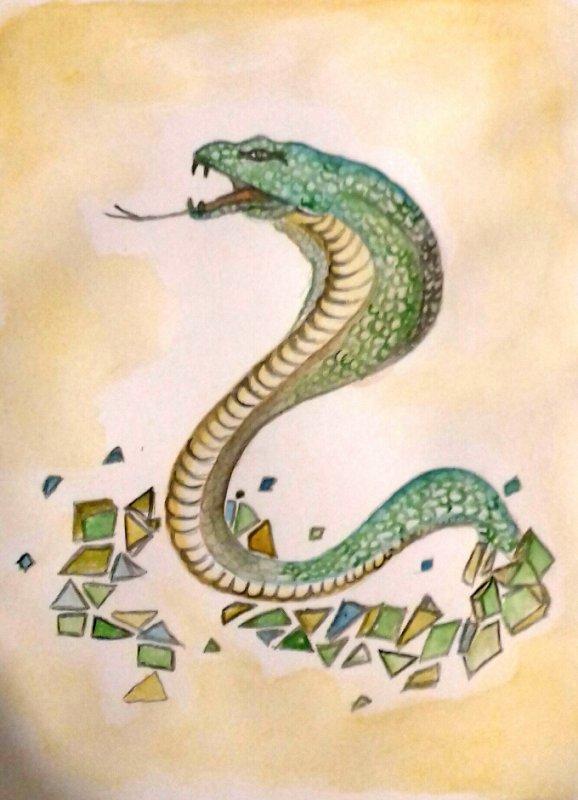 Le serpent au éclats