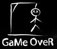 GAME OVER =( TRY AGAIN =)