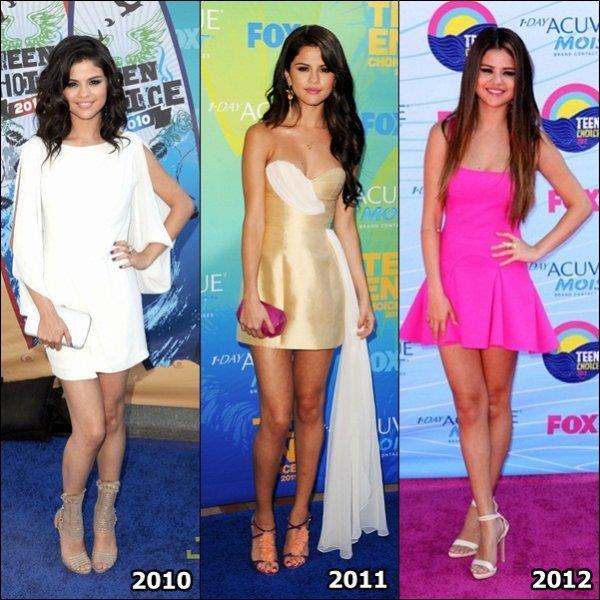 Le 22 juillet dernier, notre belle Selena Gomez foulait le tapis rouge des « Teen Choice Awards » pour la 6° fois déjà !!!