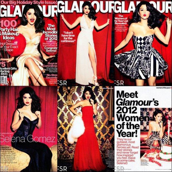 Découvrez des photos provenant du photoshoot que Miss Gomez a réalisée pour le  magazine Glamour où elle est en couverture de l'édition de décembre. Elle a d'ailleurs était élue Femme de l'année  par le magazine.