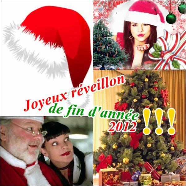 Je vous souhaite un Merveilleux Réveillon de fin d'année 2012 avec un peti montage de Selena Gomez et d'NCIS !!! Très bonne et heureuse année 2013 à vous. Je vous aimes tous très fort <3 !!!