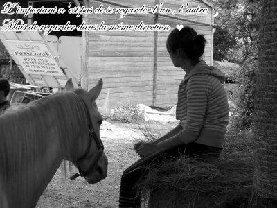L'amitier d'un cheval na pas de prix car celle ci est infinie ♥.