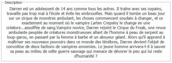 . L'Assistant du vampire .