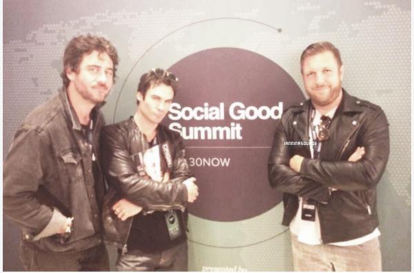 . Le 22 septembre 2013, Ian s'est rendu auSocial Good Summit, à New York. .