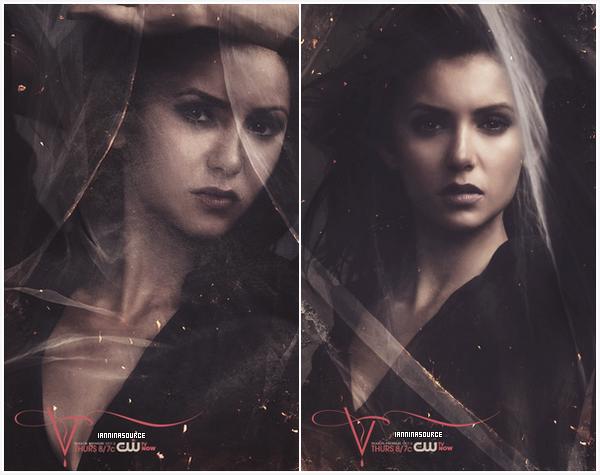 . Découvrez deux nouveaux posters de Nina pour la saison 05 de The Vampire Diaries. .