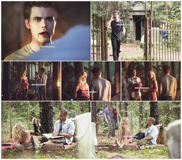 """. Découvrez de nouveaux stills de l'épisode 04 de la saison 05 de The Vampire Diariesintitulé """"ForWhom The Bell Tolls"""". ."""