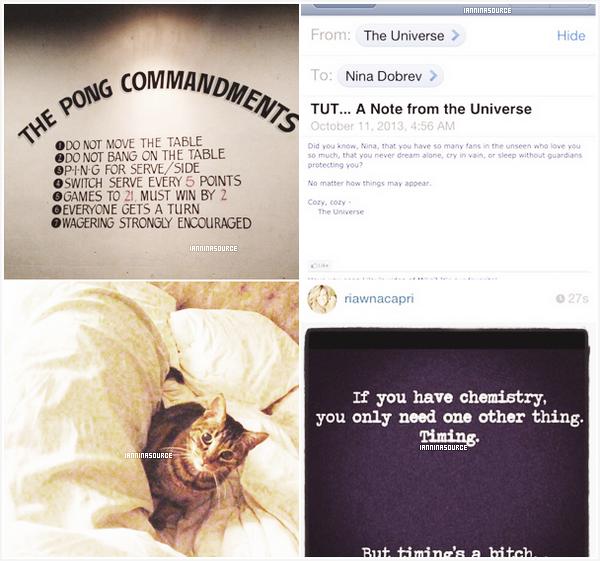 . De nouvelles photos personnelles de Nina postées sur Instagram. .