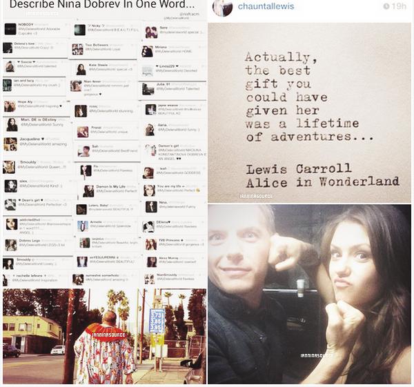 . Nouvelles photos personnelles de Nina postées sur Instagram et Twitter. .