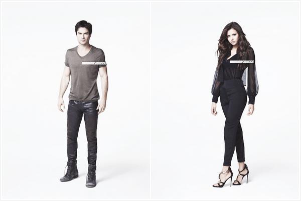 . Découvrez deux photos promotionnelles de Ian et Nina pour la saison 05 de The Vampire Diaries. .