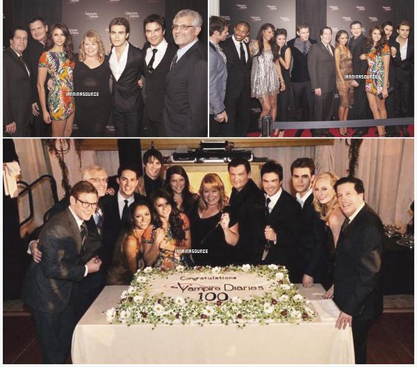. Le 09 novembre 2013, Ian et Nina étaient présents, avec leurs co-stars, à la célébration du 100ème épisode de The Vampire Diaries ! .