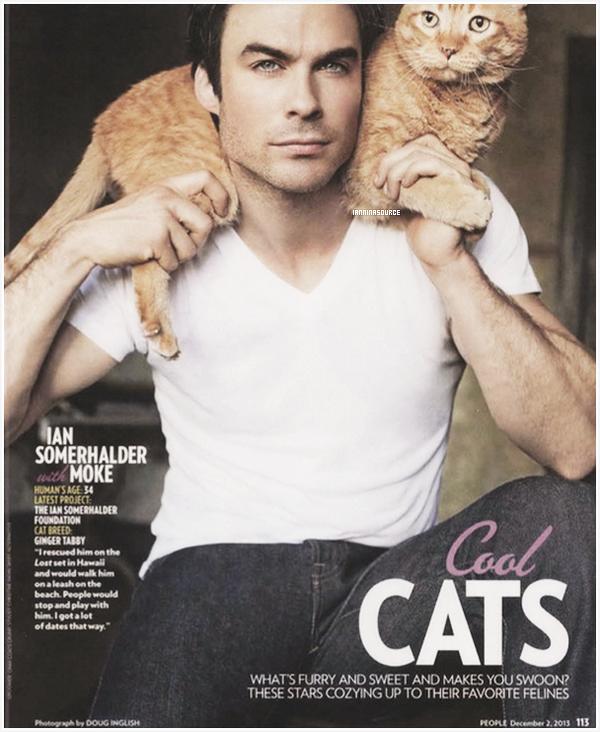 . Découvrez un scan de People Magazine où Ian apparaît pour son titre d'homme vivant le plus sexy !  .