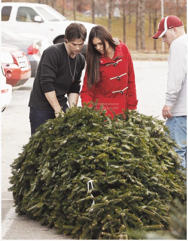 . Le 04 décembre 2012, Ian et Nina ont été vus choisissant leur sapin de Noël ! .