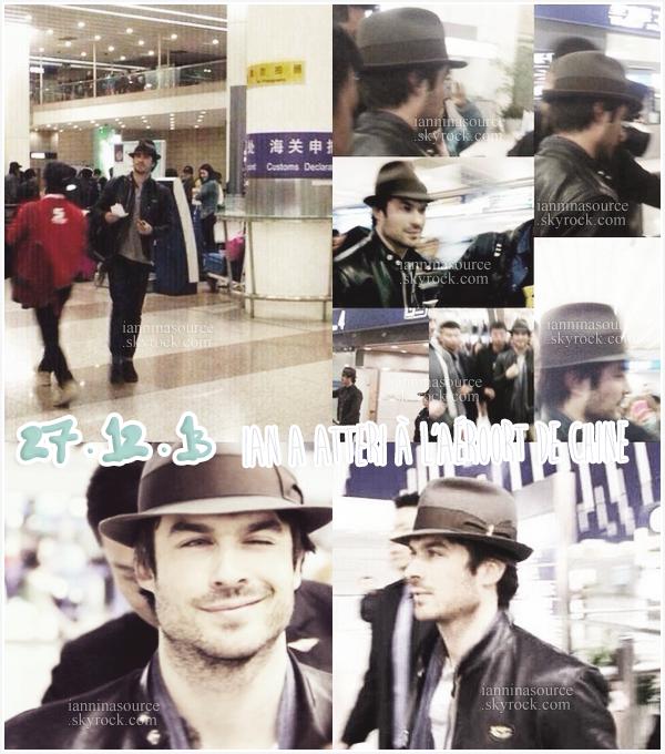 . Le 27 décembre 2013, Ian est arrivé en Chine ! .