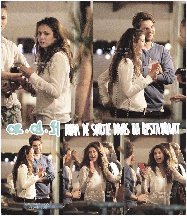 . Le 02 janvier 2014, Nina était de sortie avec des amies dans un restaurant à Sydney.  .