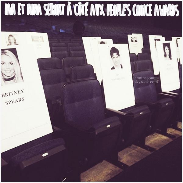 . Ian et Nina seront assis à côté lors des People's Choice Awards ! .