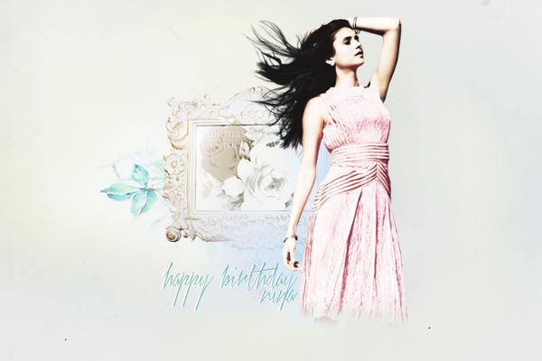 . Un très bon anniversaire à Nina qui fête aujourd'hui ses 25 ans ! .