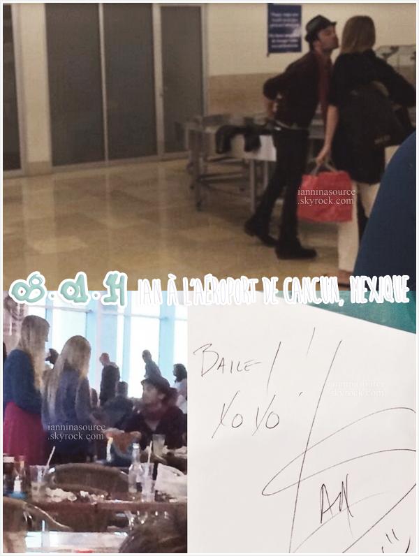 . Le 08 janvier 2014, Ian était à l'aéroport de Cancun pour un vol en direction de Los Angeles. .