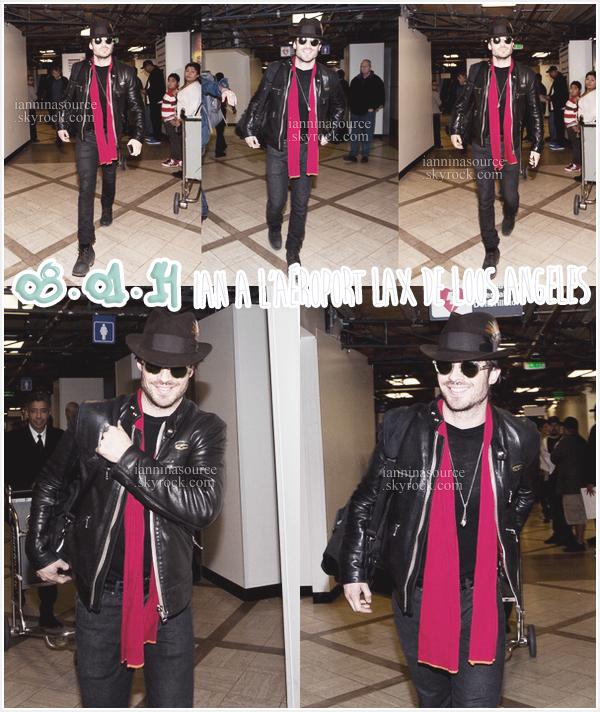 . Le 08 janvier 2014, Ian a atteri à l'aéroport de Los Angeles. .