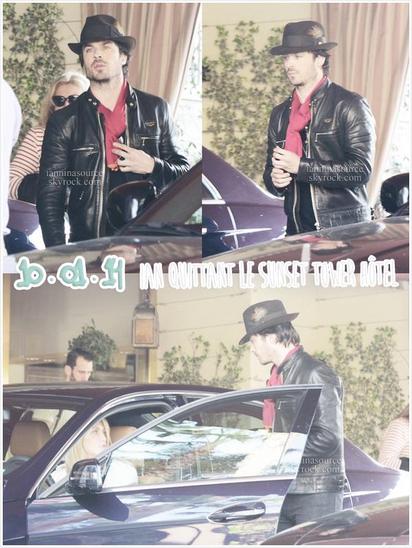 . Le 10 janvier 2014, Ian a été vu quittant le Sunset Tower Hotel à Beverly Hills. .