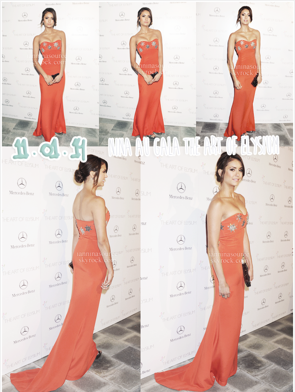 . Le 11 janvier 2014, Nina s'est rendue au septième gala annuel de The Art Of Elysium, organisé par Heaven et présenté par Mercedes-Benz. .
