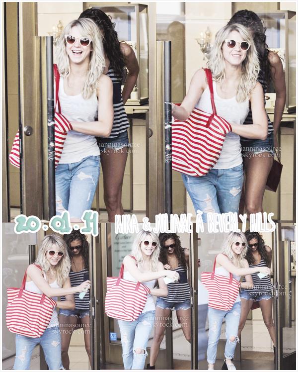 . Le 20 janvier 2014, Nina était de sortie à Beverly Hills avec sa meilleure amie Julianne Hough. .