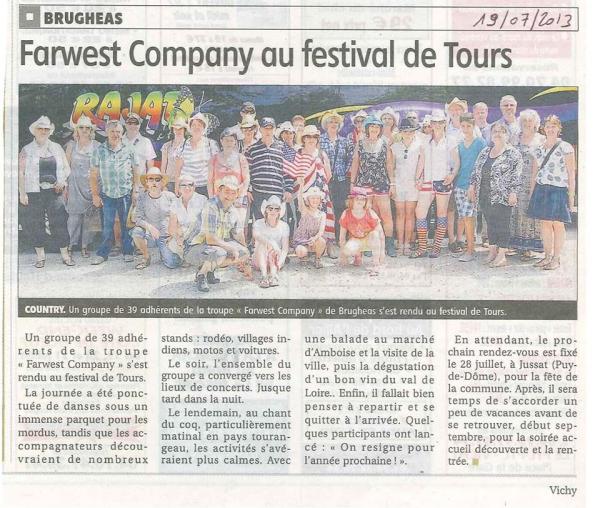 GROUPE DE BRUGHEAS AU FESTIVAL DE TOURS