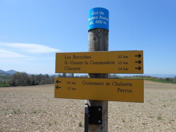 Panneaux de cols originaux (100 cols en Drôme)