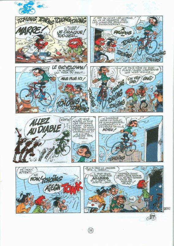 Humour et Vélo avec Gaston Lagaffe 1. Le bicyclown