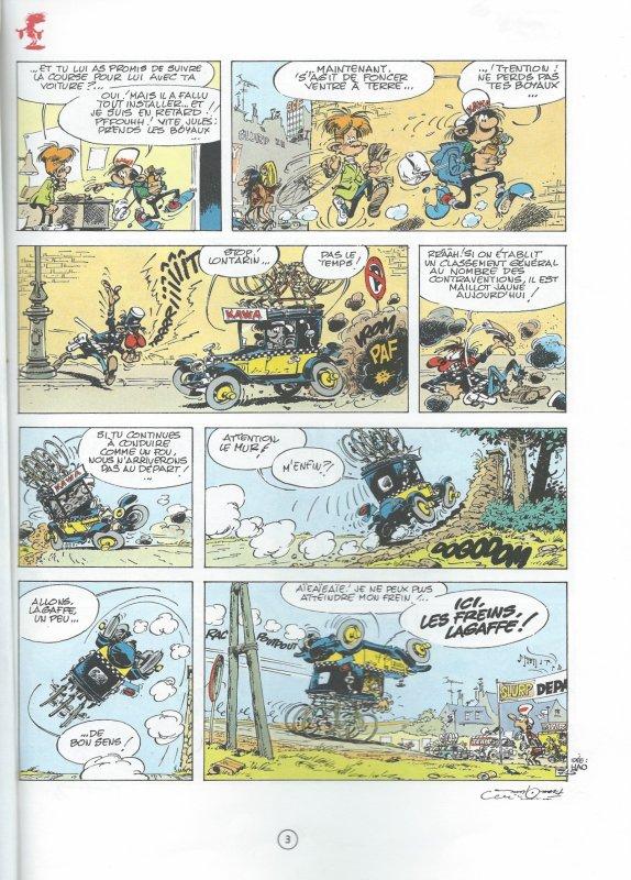 Humour et Vélo avec Gaston Lagaffe 2. La voiture suiveuse