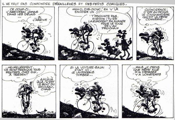 Humour et Vélo avec Franquin : Idées Noires