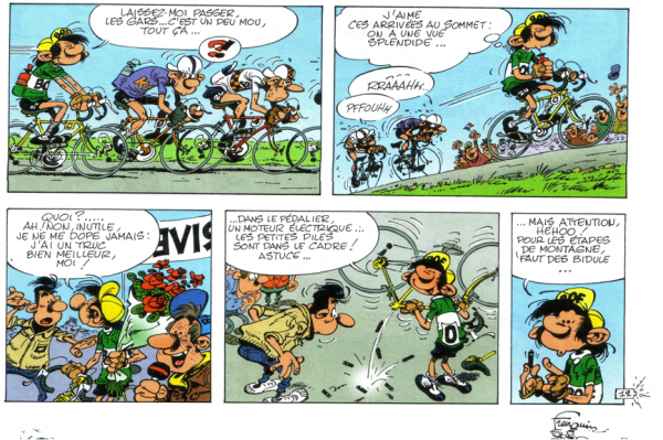 Humour et Vélo avec Gaston Lagaffe 5. Coureur cycliste