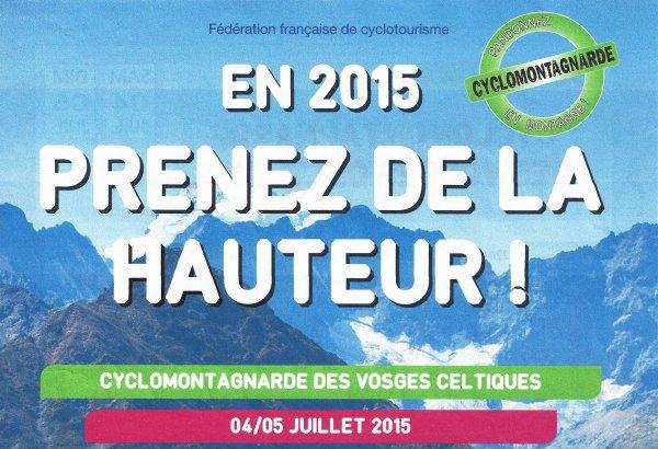 Cyclo-Montagnardes en 2015