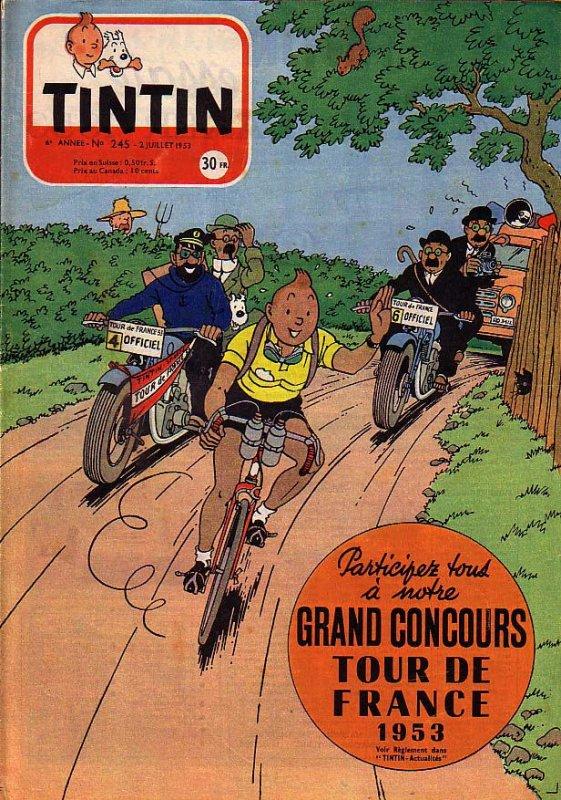 Les vélos en couverture du Journal de Tintin (28/05/2015)