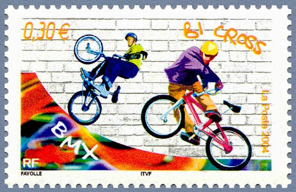 Vélos sur les timbres poste français (4/02/2016)