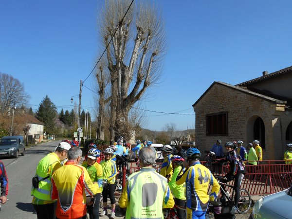 Initiation Audax 100 km, à Salviac, Lot (19/03/2016)