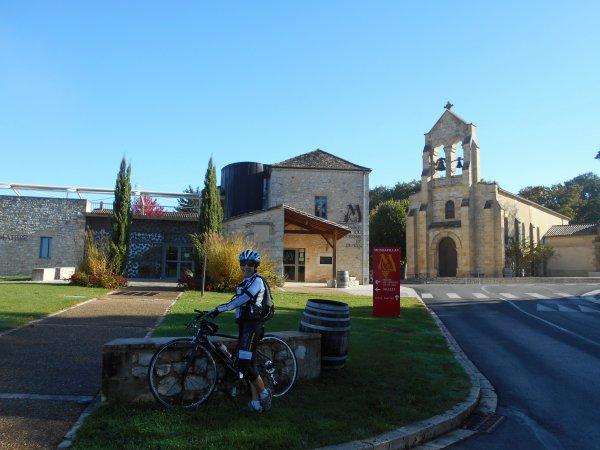 Tourisme à vélo autour de Monbazillac, Dordogne (18/10/2016)