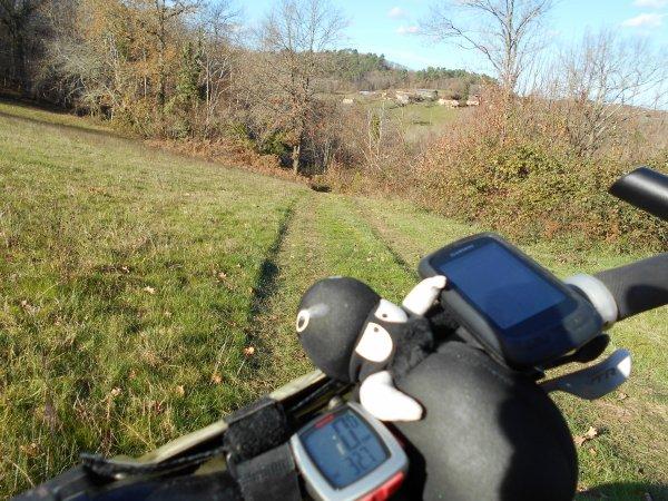 VTT autour de Saint-Pompon (4/12/2016)