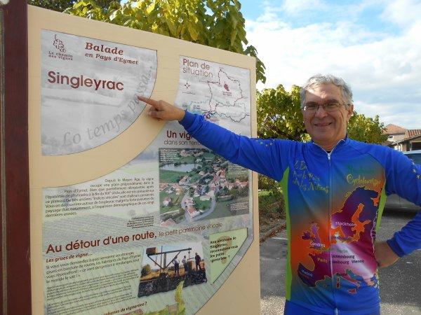 Tourisme à vélo autour de la bastide d'Eymet, Dordogne (21/10/2016)