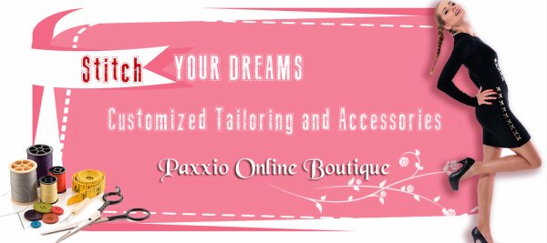 Lets Stitch Your Dream Dress, by #Paxxio-exclusive women online shopping site.