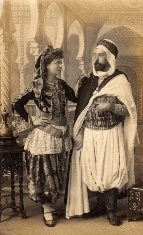 Couple Algerien Année 1900