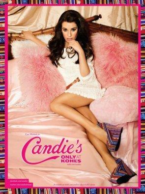 Lea Michele est la nouvelle égérie de la marque Candie's.