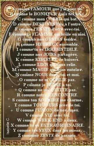 L'alphabet de l'amour