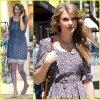 """Taylor a été vu aujourd'hui faisant quelques achats chez """"Anthropology"""" à Beverly Hills ."""