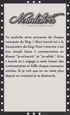 » JosephIan-Somerhalder.skyrock.com        Article 02: Newsletters. Creation - Decoration - Texte