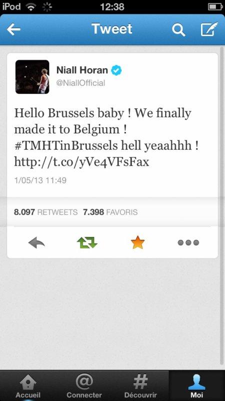 Le tweet de Niall