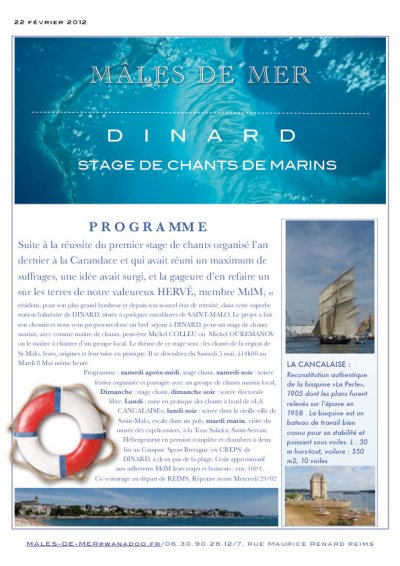Stage de Chants Marins à Dinard