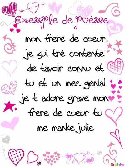 Un Poeme Pour Mon Frere De Coeur Blog De Lovedeluii