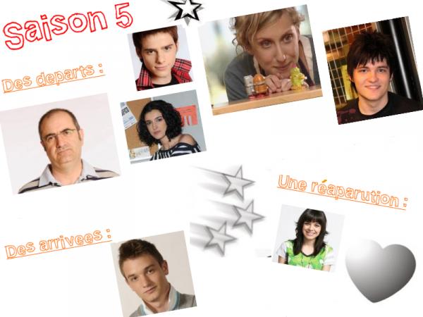 • Les « Nouvelles » de la saison 5 •