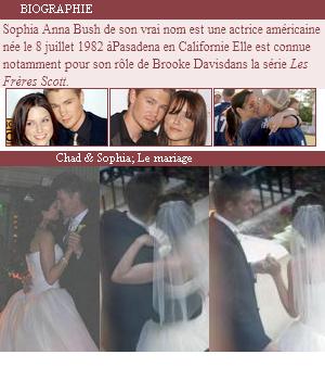 Sophia Bush & Chad Michael Murray : Un conte de fée qui ne dure que 5 mois.